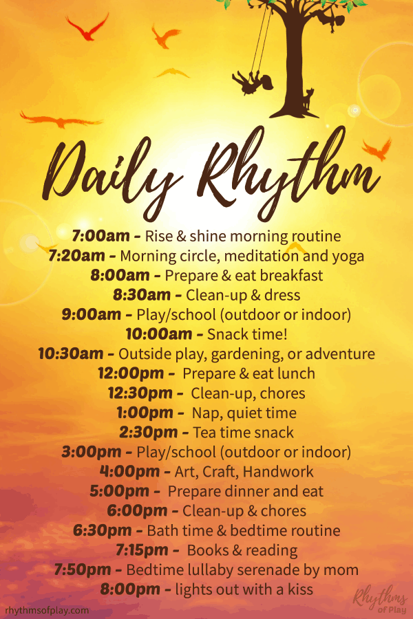 Waldorf daily rhythm: our daily routine