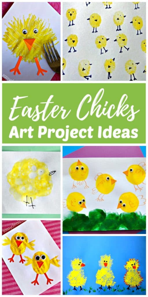 Cute Spring Easter chicks art project ideas