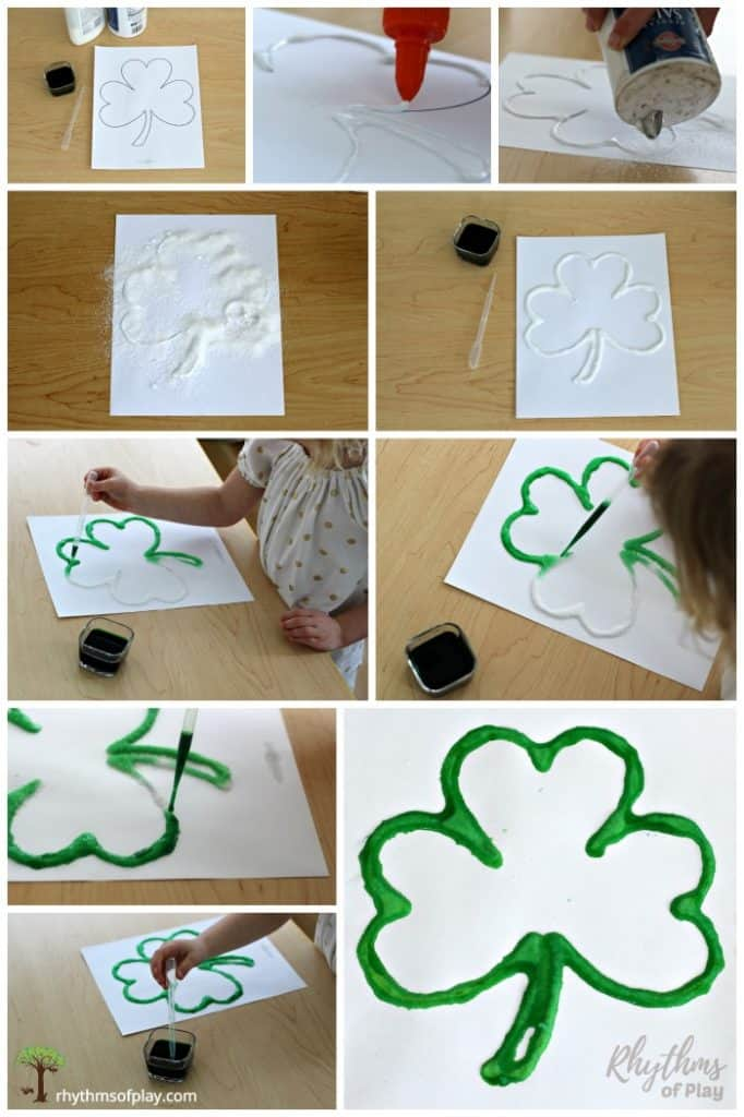 How to paint a raised salt paint shamrock