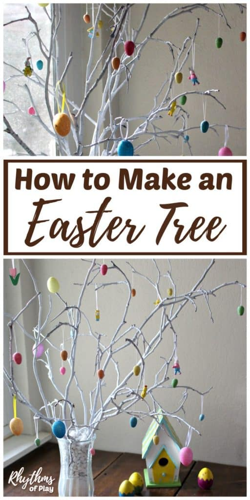 Easter Egg Tree decorated with Easter tree ornaments