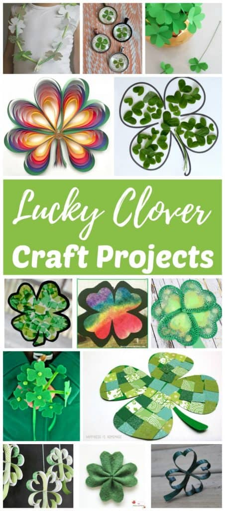 Four leaf clover craft projects for