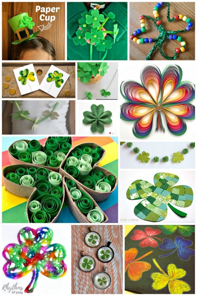 Shamrock and clover art and craft projects