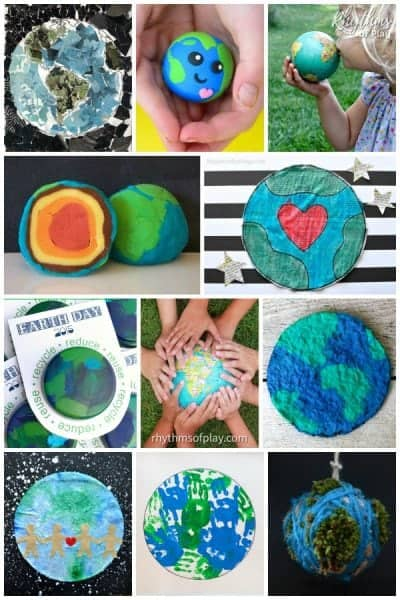 Earth day crafts and activities for kids.