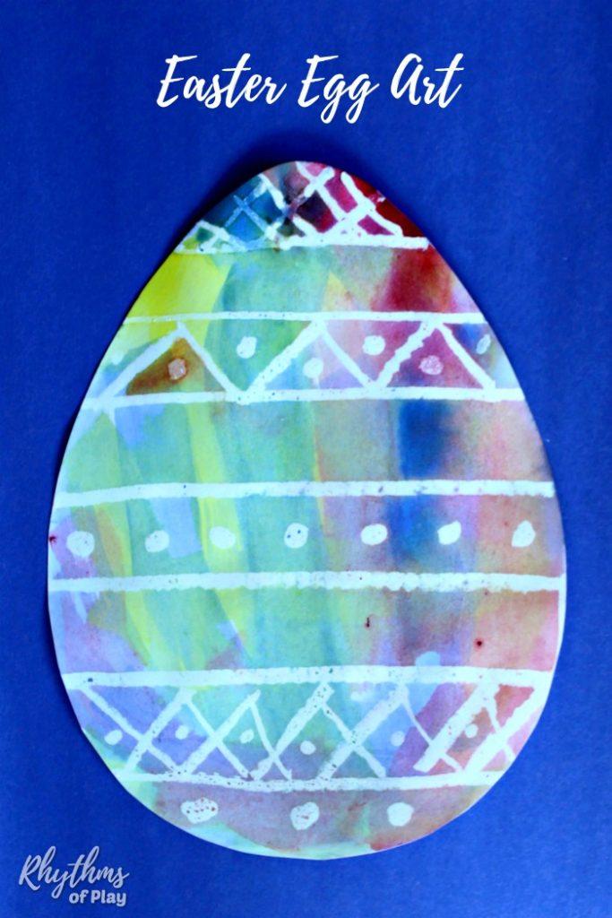 Watercolor Surprise Easter Egg Art
