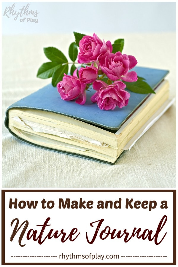 nature journal with flowers on top