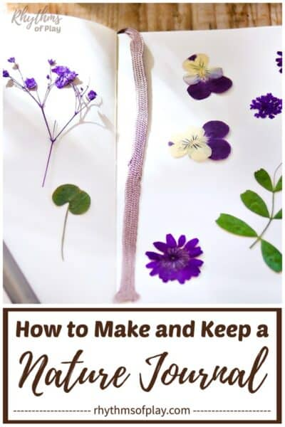 nature journal with flowers inside - how to make a nature journal and how to keep a nature journal