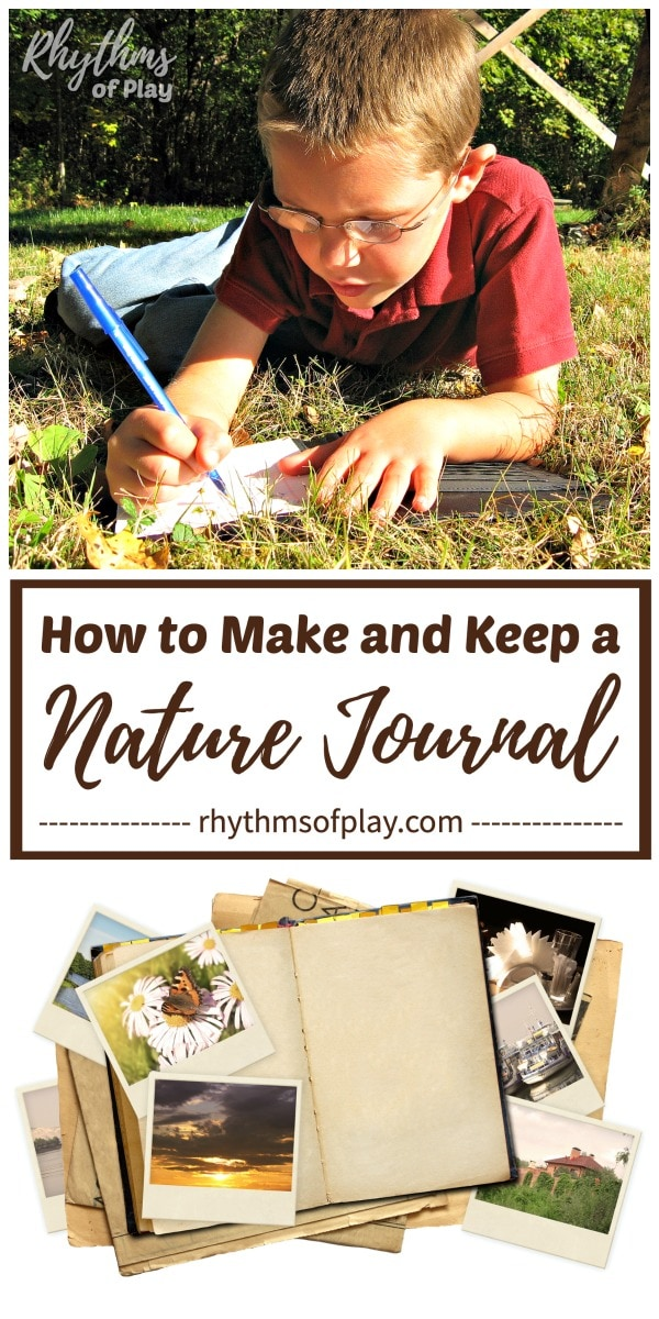child writing in a nature journal - how to make a nature study journal