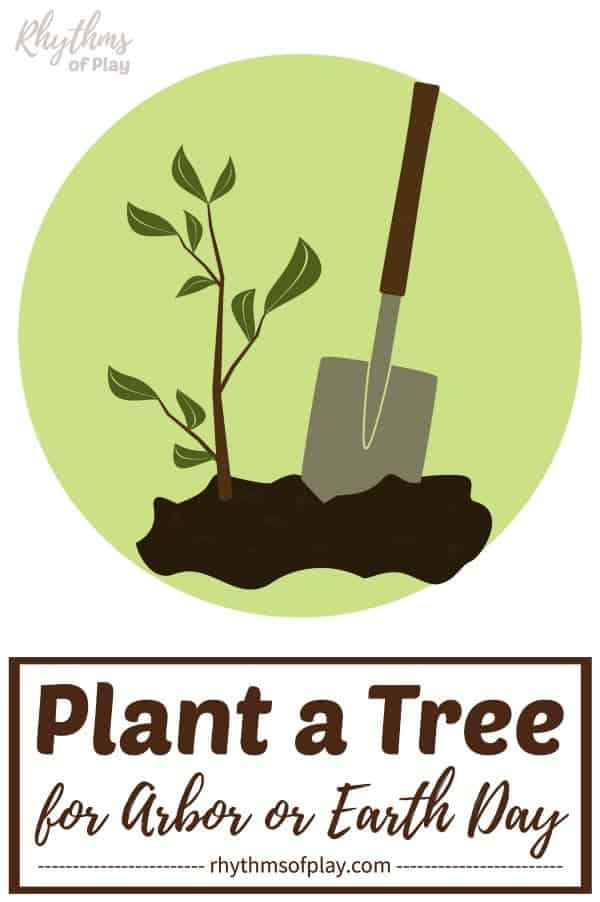 planting a tree for arbor day or Earth day