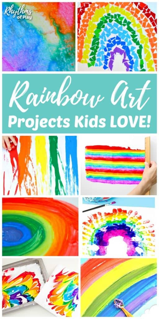 Easy Rainbow art projects kids love
