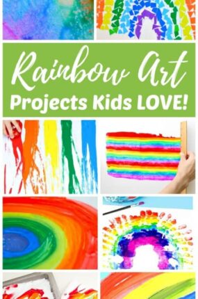 Easy Rainbow art projects for kids