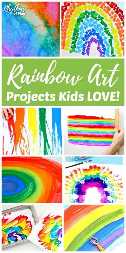 rainbow art projects kids love and rainbow crafts too rop. Black Bedroom Furniture Sets. Home Design Ideas
