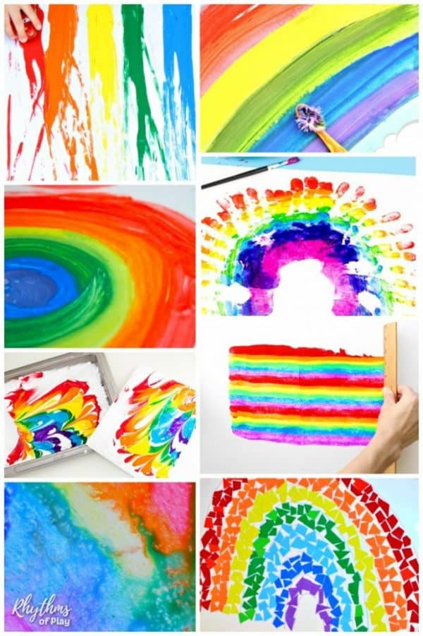 Rainbow art ideas for children