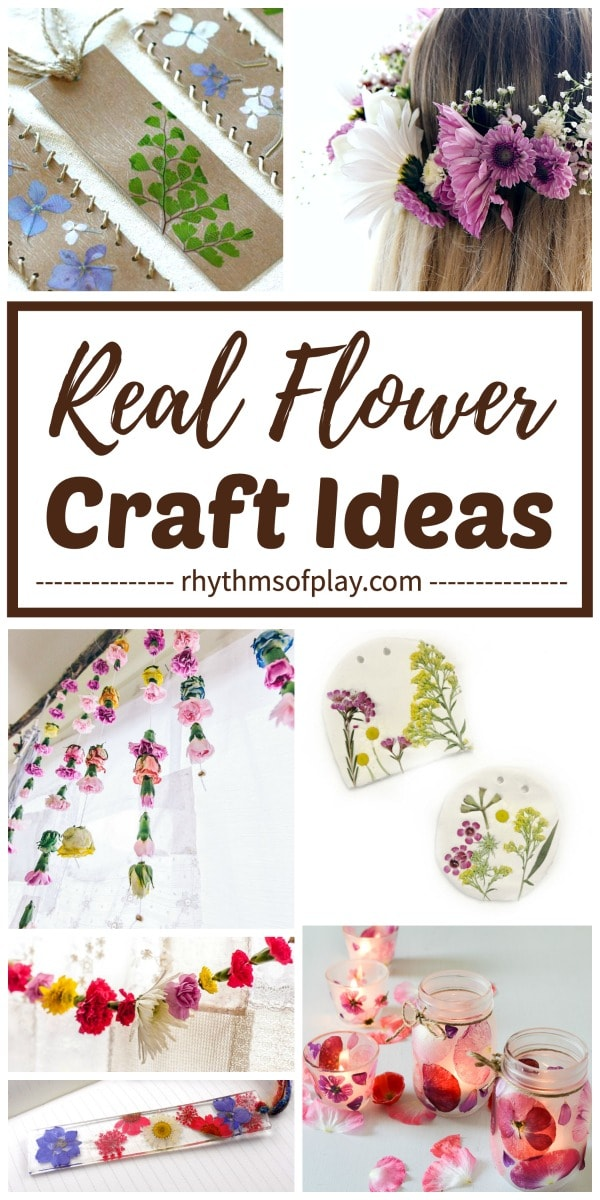 flower craft ideas that use real flowers as the craft supply