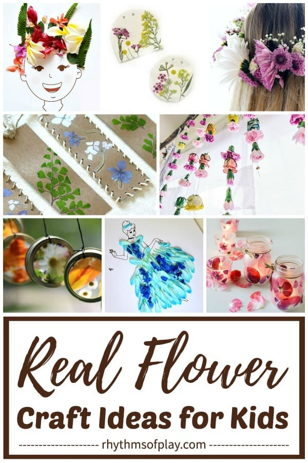 real flower craft ideas - gorgeous nature crafts