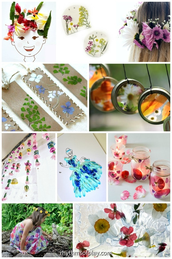 real flower craft ideas for kids and adults