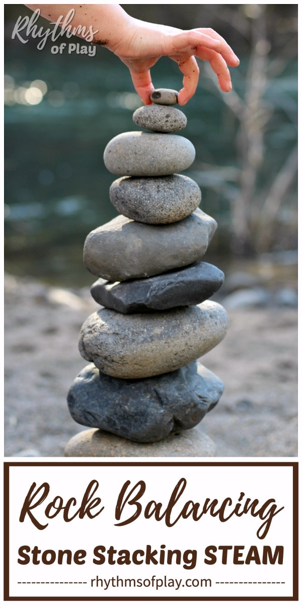 rock balancing art - stone stacking land art