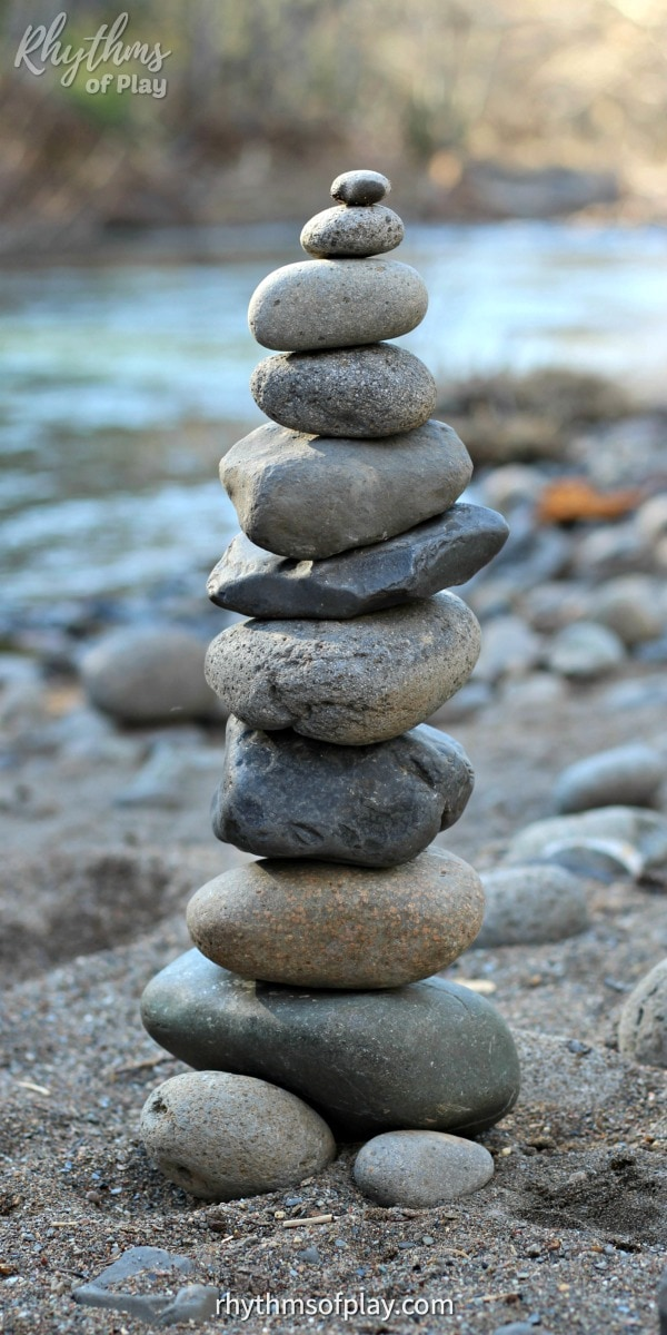 rock balancing art, stone stacking art, stone building