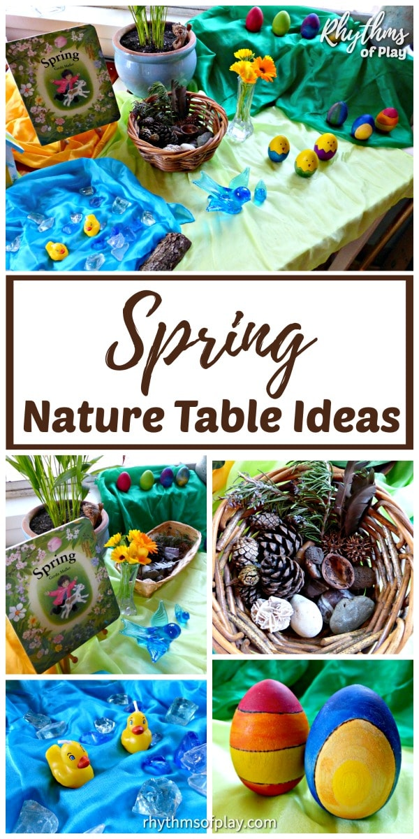 nature table ideas for spring DIY home decor