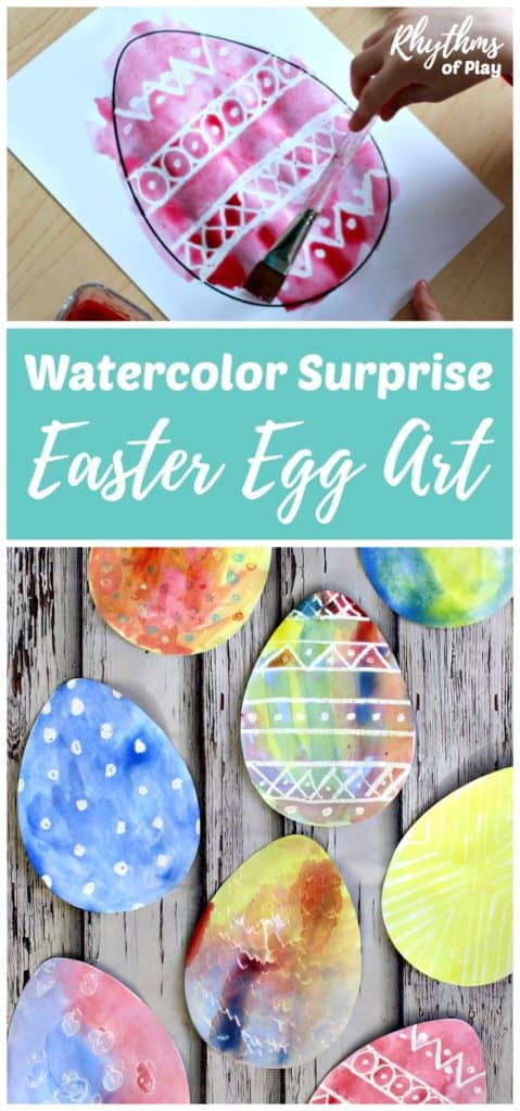 Watercolor Surprise Easter Egg Art examples
