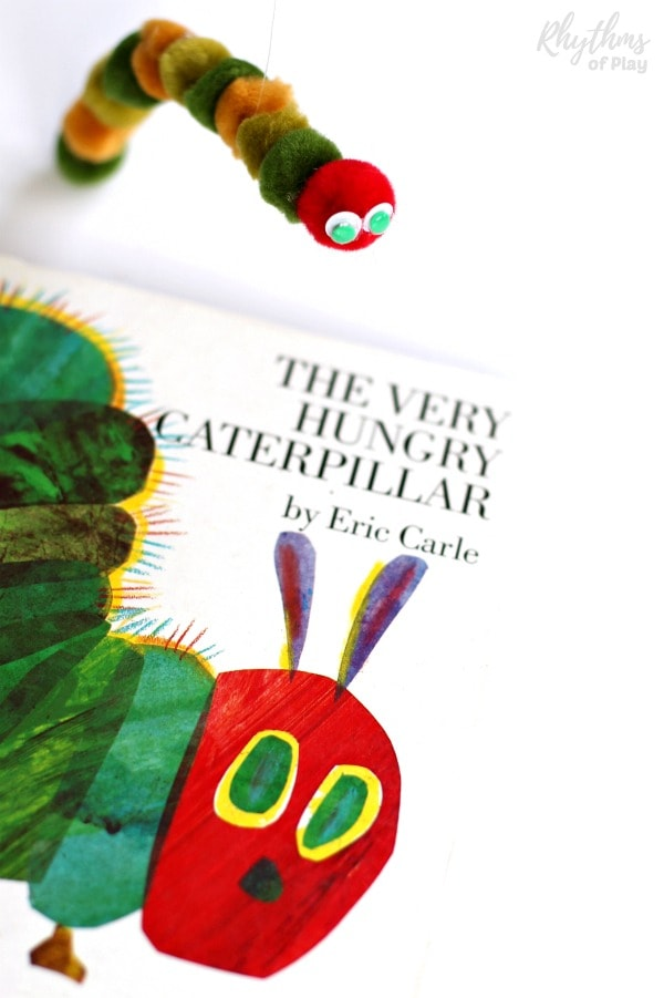 hungry caterpillar puppet craft and DIY toy for kids!
