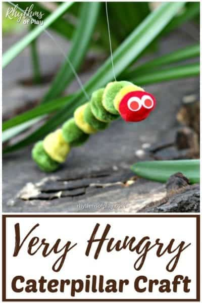 The very hungry caterpillar puppet craft and DIY toy for kids!