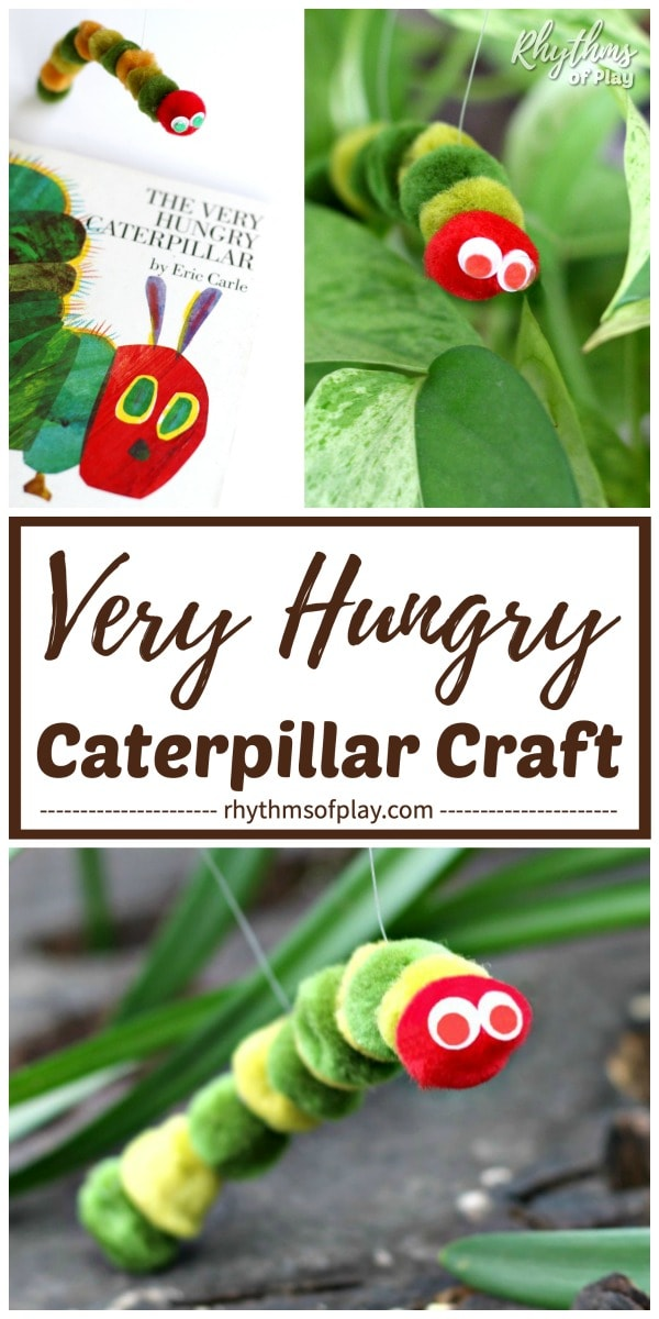 caterpillar craft and DIY toy hungry caterpillar puppet kids can make