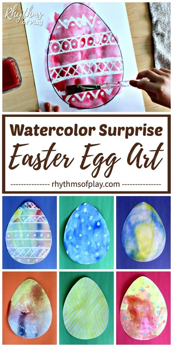 Watercolor Surprise Easter Egg Art Ideas