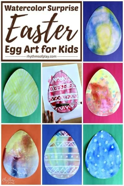 Watercolor surprise Easter egg art ideas for kids (and adults!)