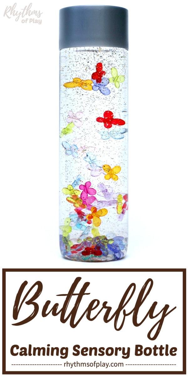 calming butterfly sensory bottle