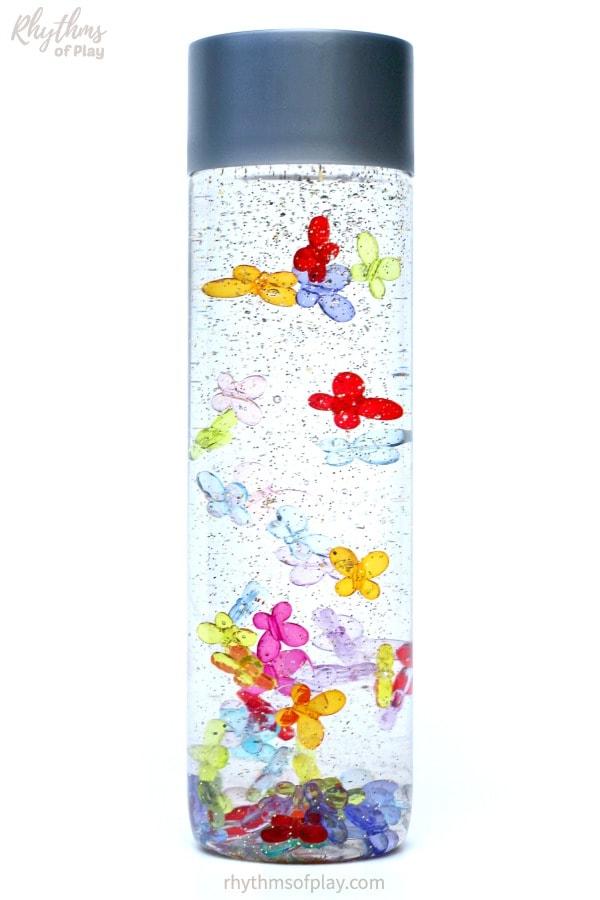 butterfly calm down jar sensory bottle for kids
