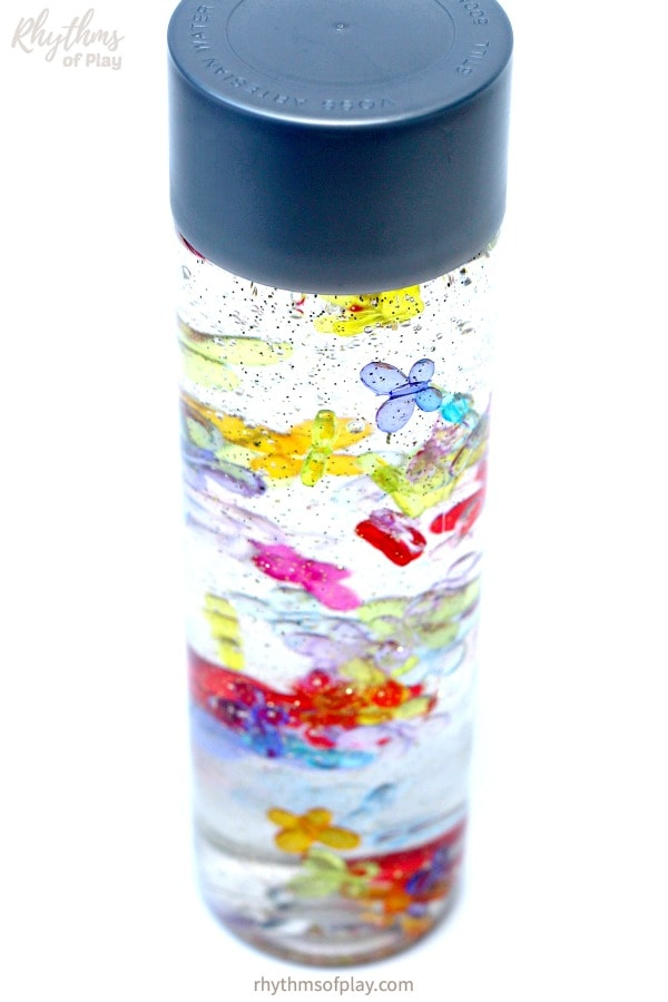 butterfly calming sensory bottle for kids and adults
