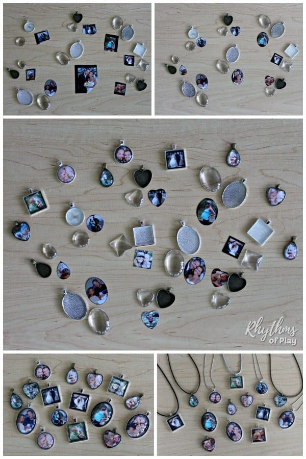 photo necklace tutotial