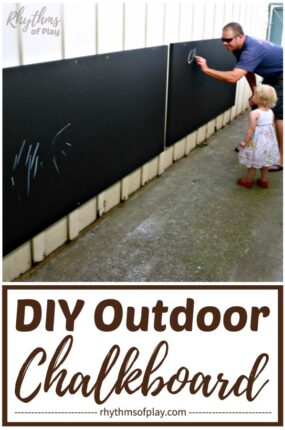 large outdoor chalkboard tutorial