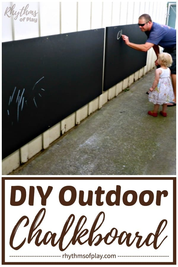 large outdoor chalkboard tutorial