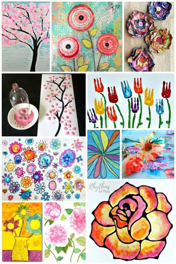 Easy Flower Art Projects