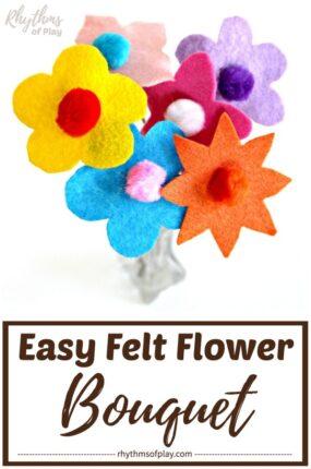 felt flowers diy bouquet