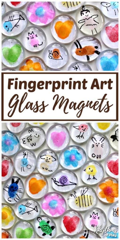 Fingerprint Art Glass Magnets Craft For Kids Video Rhythms Of Play