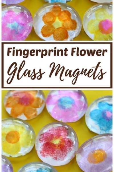 Fingerprint Flower Glass Magnets (VIDEO)