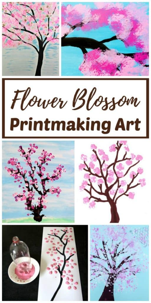 Flower Blossom Printmaking Art