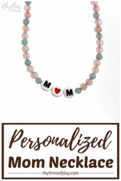 personalized necklace for mom that kids can make