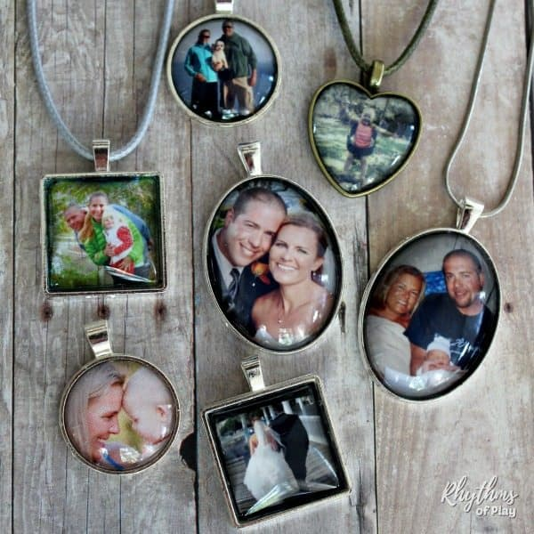Photo necklace tutorial - handmade gift idea children can make