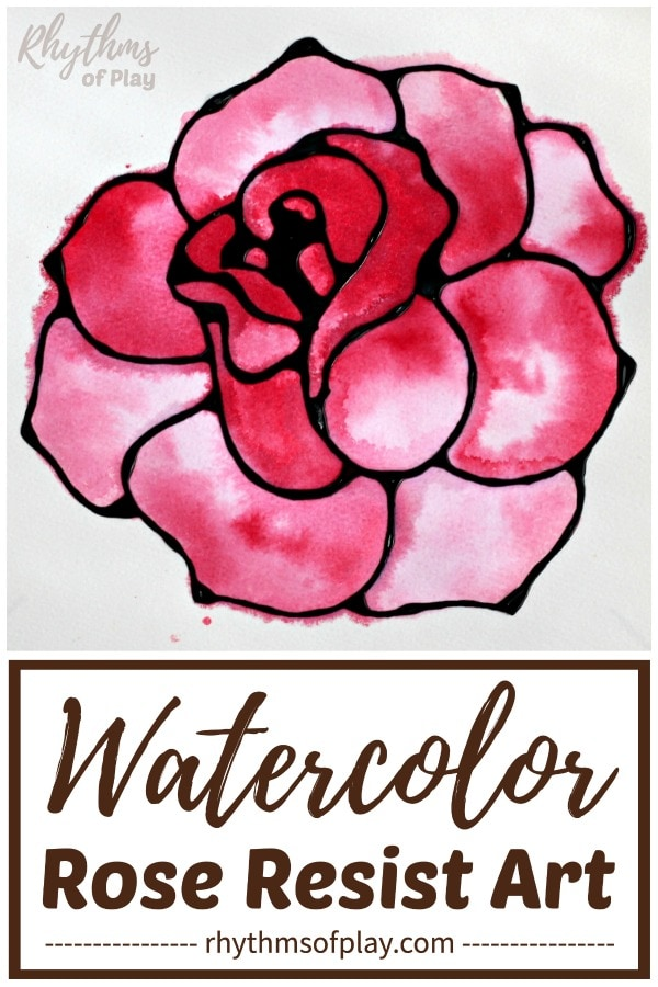 rose art - red rose watercolor painting