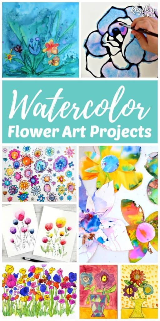Watercolor flower art project ideas