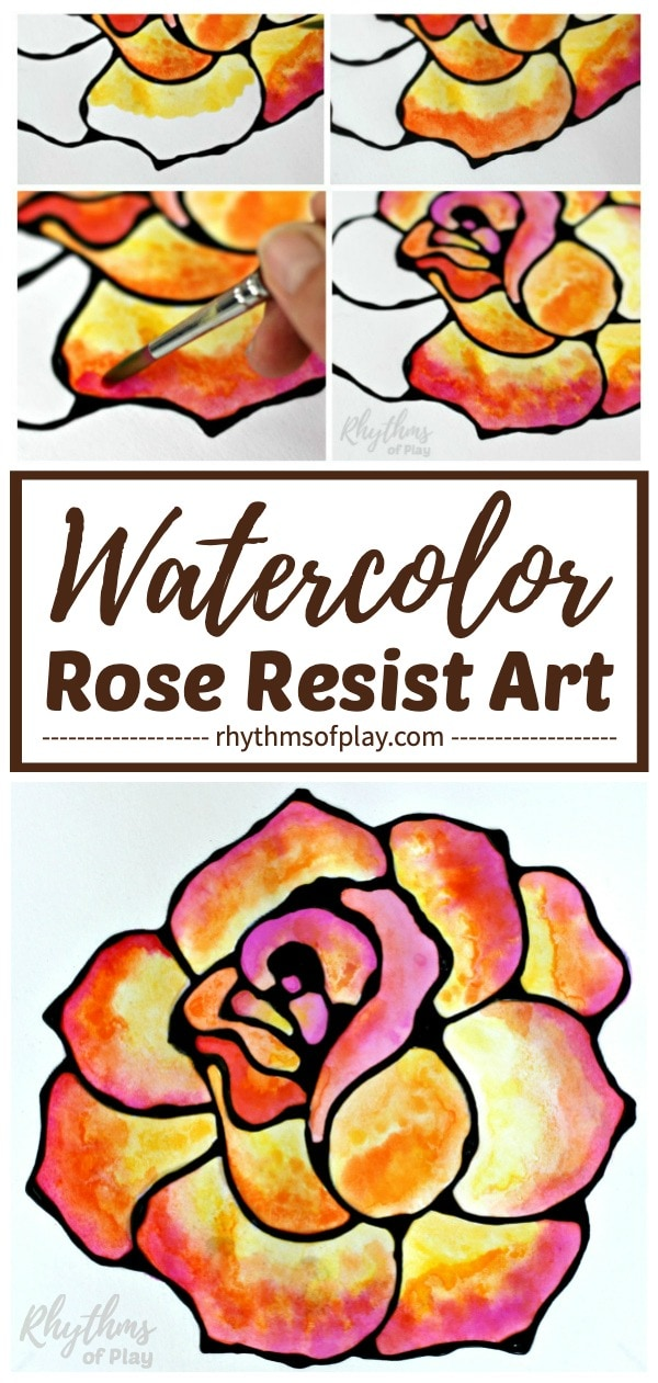 Rose art - How to paint a rose with watercolors.