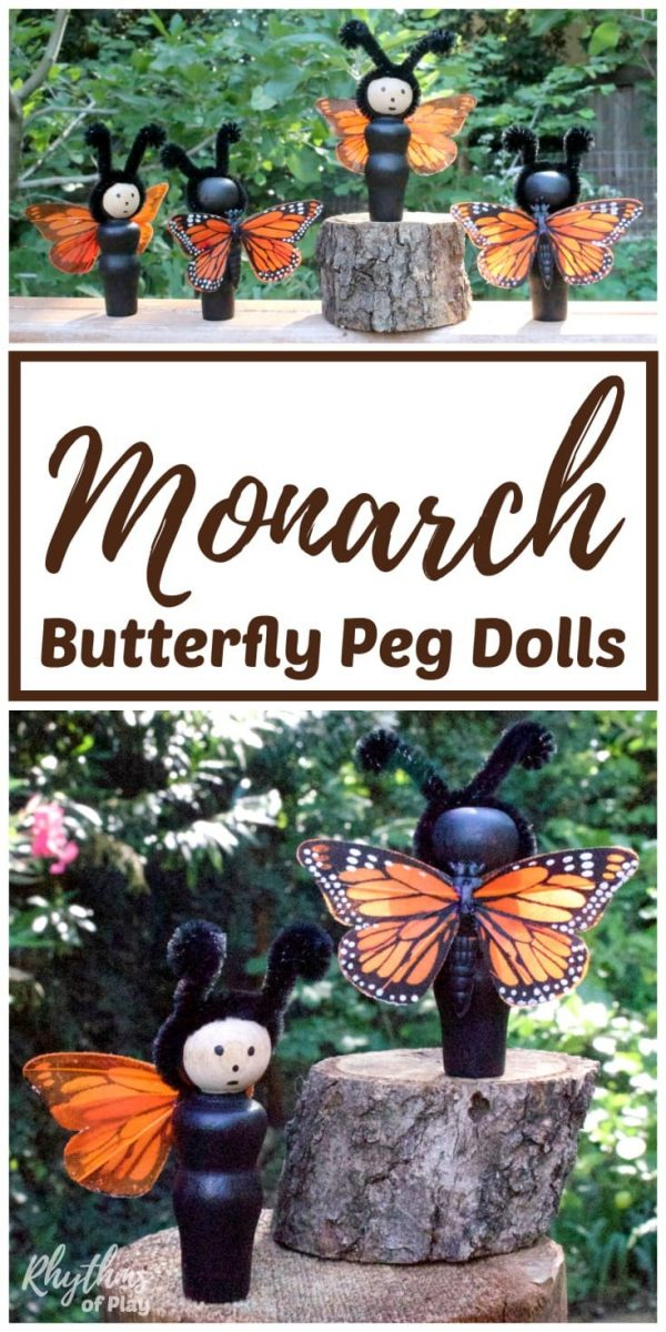 monarch butterfly craft and DIY toy dolls for children