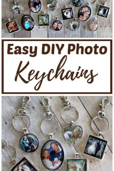 easy DIY photo keychains