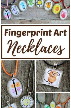 Fingerprint art necklace pendant ideas