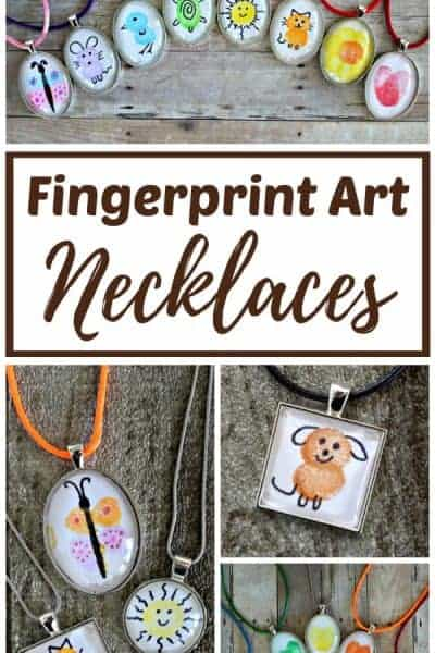 Fingerprint art necklace pendant ideas