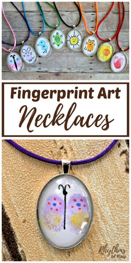 DIY Fingerprint art necklace pendants