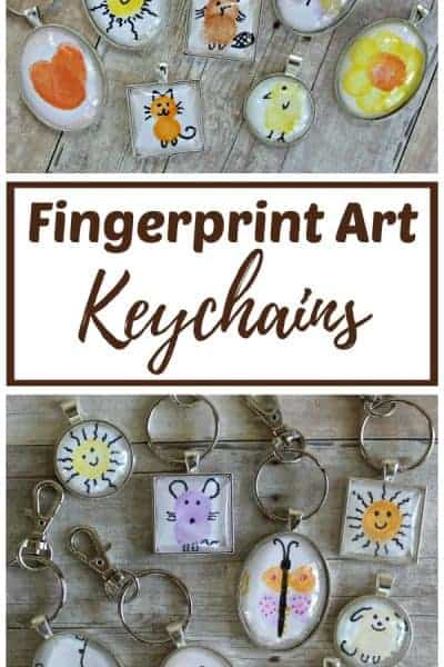 DIY fingerprint art keychains
